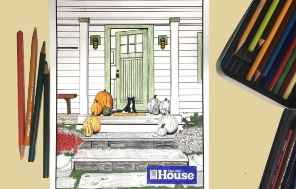 Announcing the Winner of the Fall Pumpkin Porch Coloring Contest
