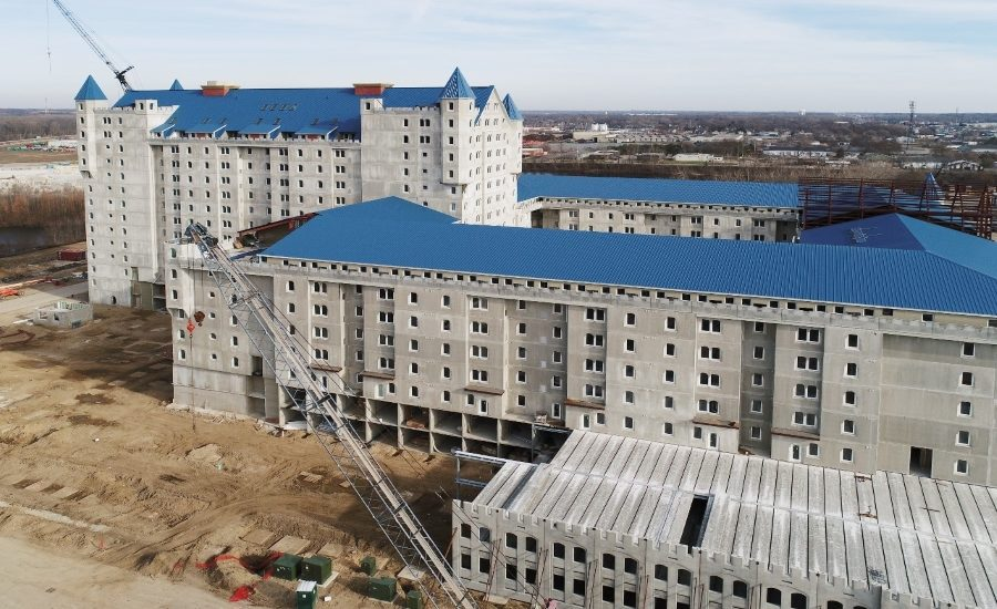 Castle Apartments Receive Precast Concrete Panels