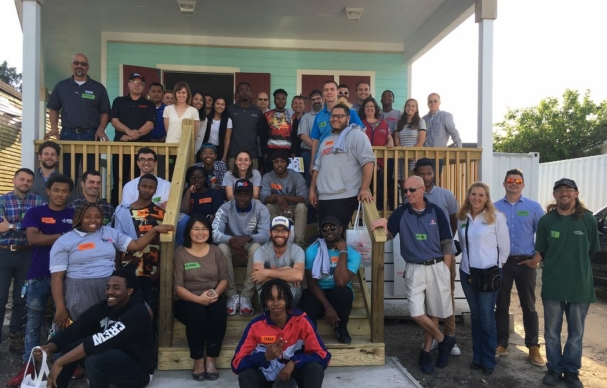 New Orleans High School Students Build Homes to Learn Skills for Work and Life