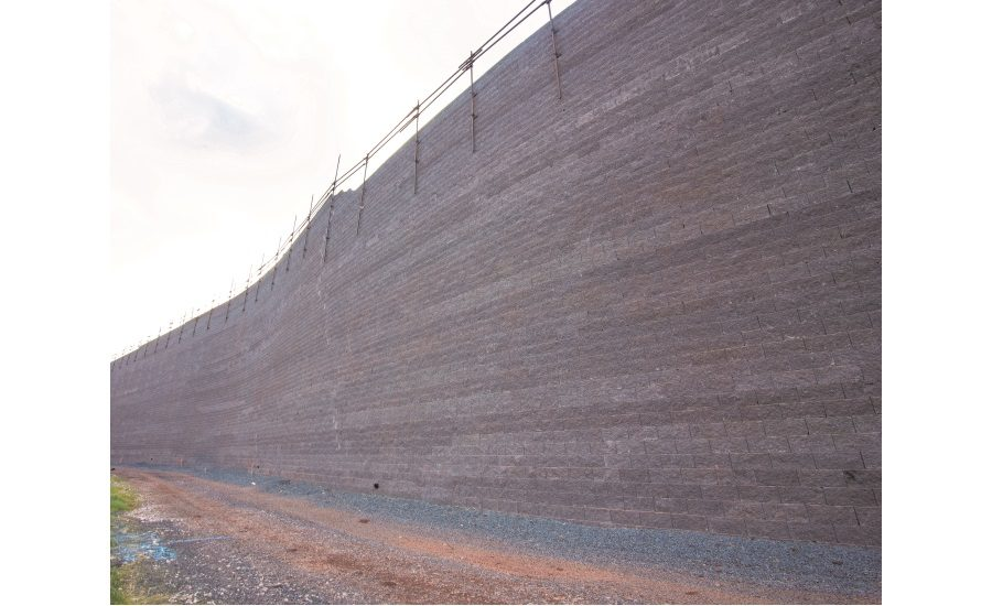 FedEx Hub Selects Oldcastle for Largest Segmented Retaining Wall System