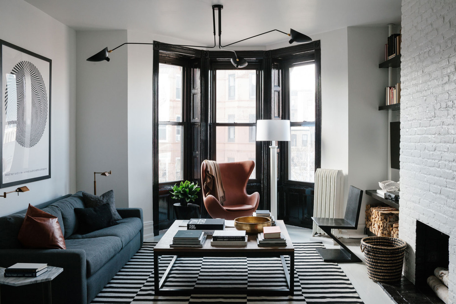 """Before & After: A """"Not Too Brooklyn"""" Bachelor Pad in Park Slope, Transformed with Paint"""