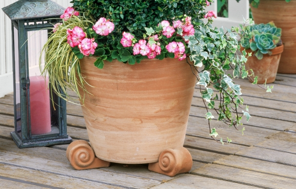 Protect a Deck with Pot Feet