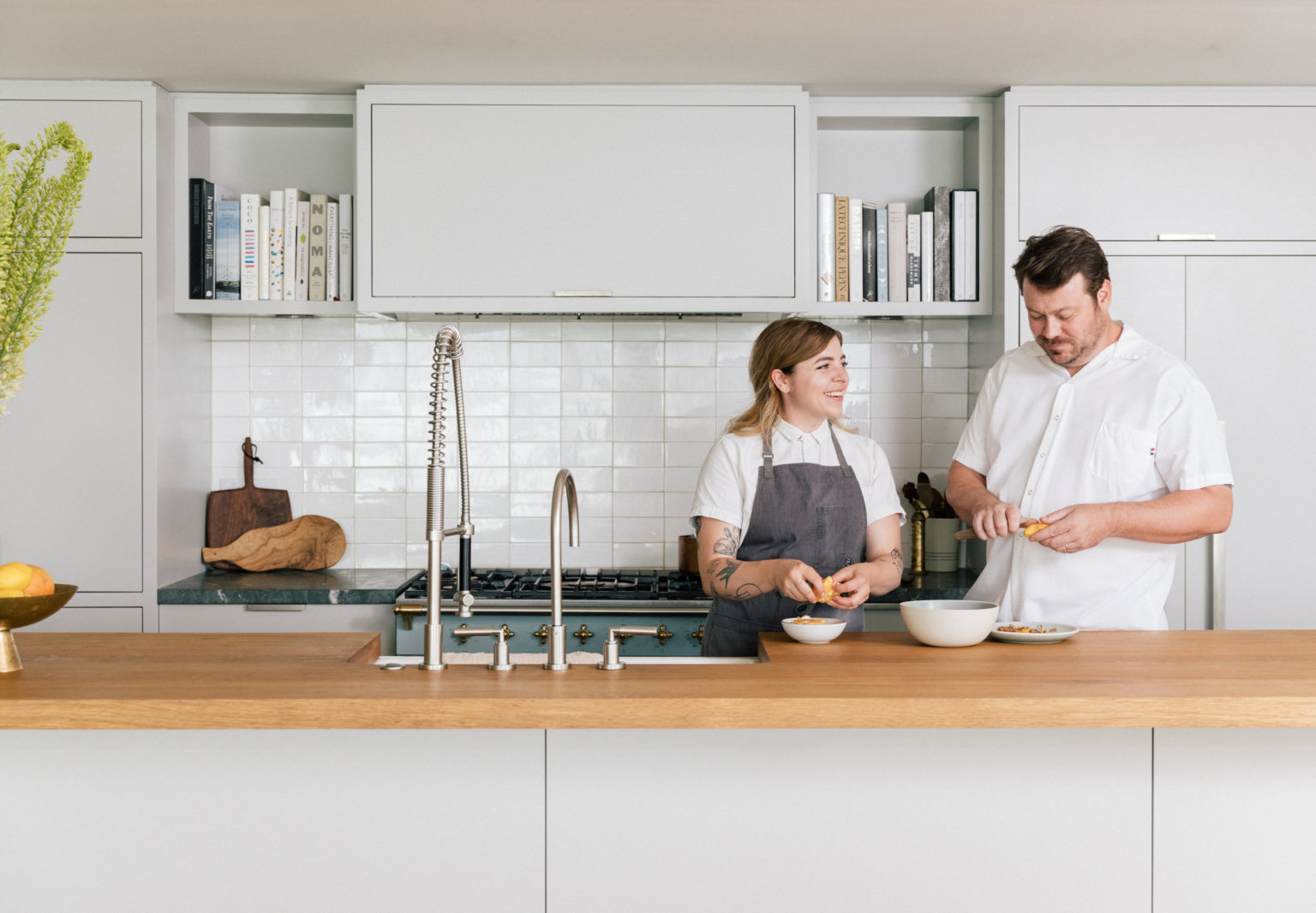 Love in Danish: A Chef Couple's Warm Scandinavian Apartment Above Their Michelin-Starred Restaurant