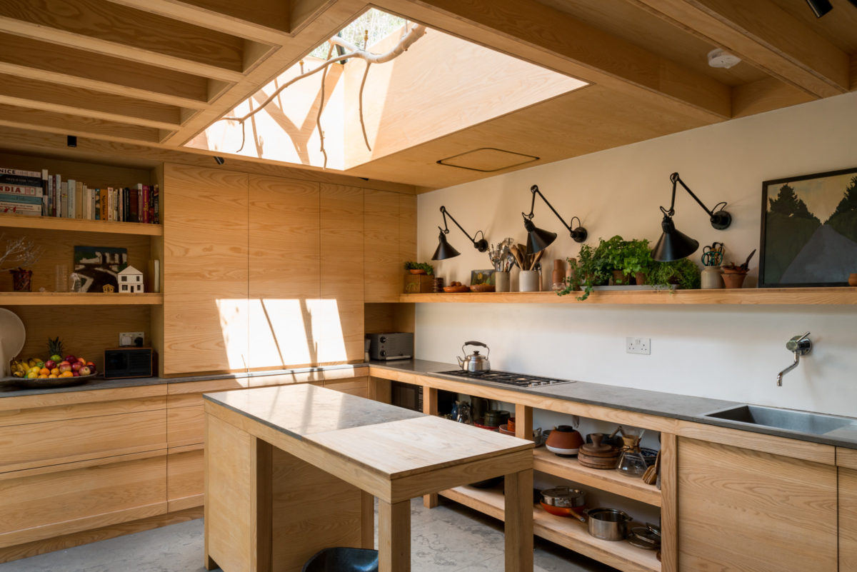 Kitchen of the Week: A London Architect's Sky-Lit Compact Kitchen
