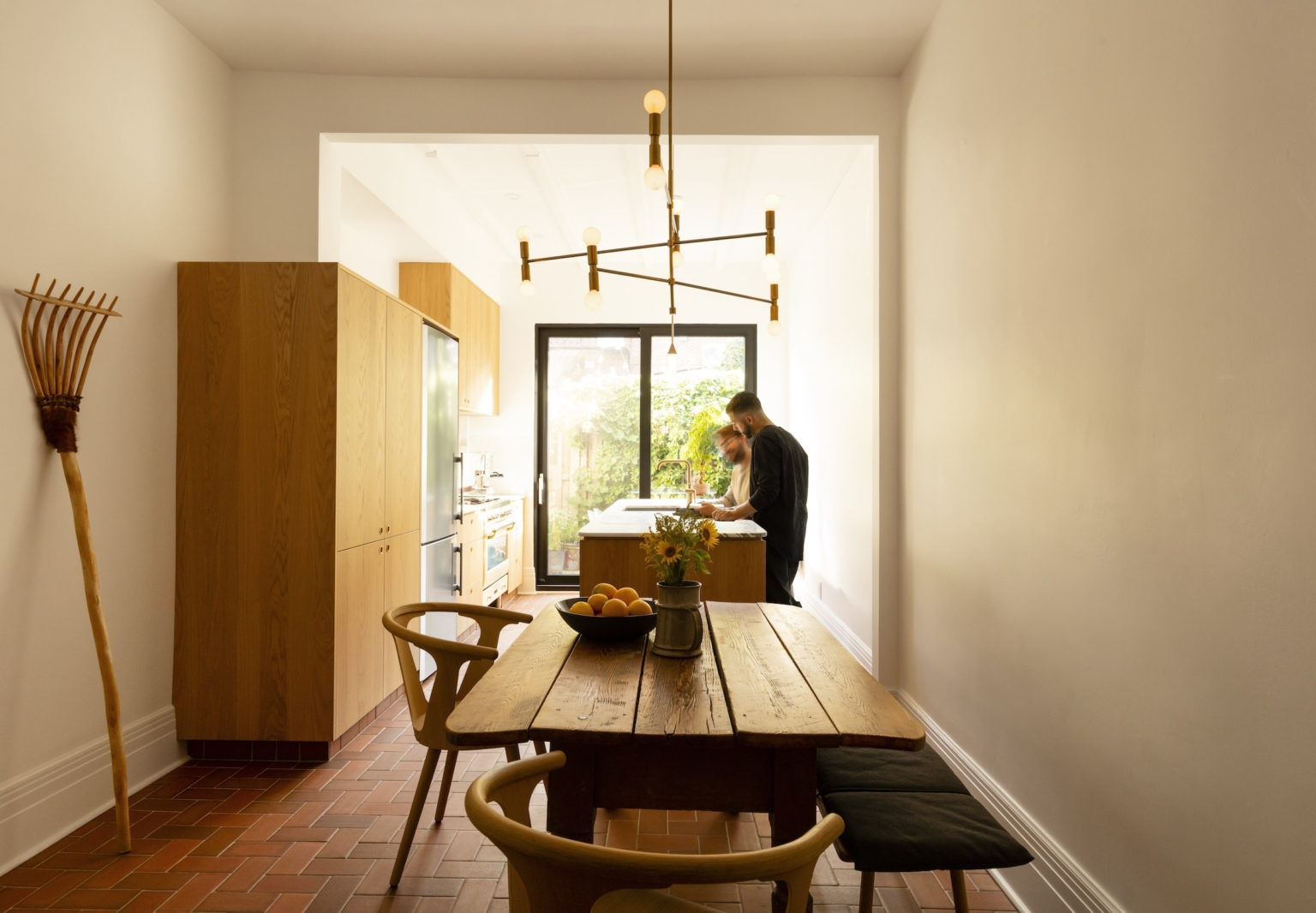 An Architect's Narrow Townhouse in Montreal, Design Studio Included