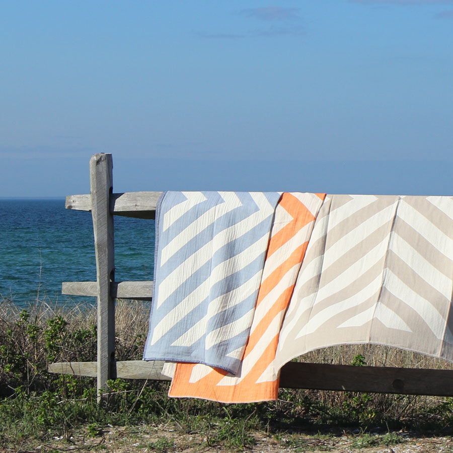 Global-Minded Throws by a Former Fashion Designer, Inspired by the Swedish Archipelago (and Art Deco, Peru, and Portugal)