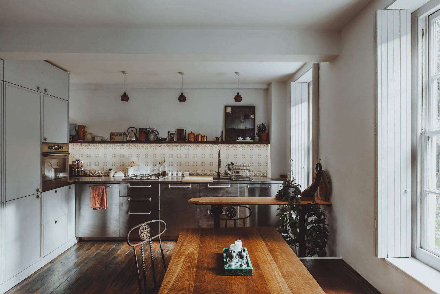 All Things Should Have Stories: A Richly Hued London Flat (With an Ikea Kitchen Too)