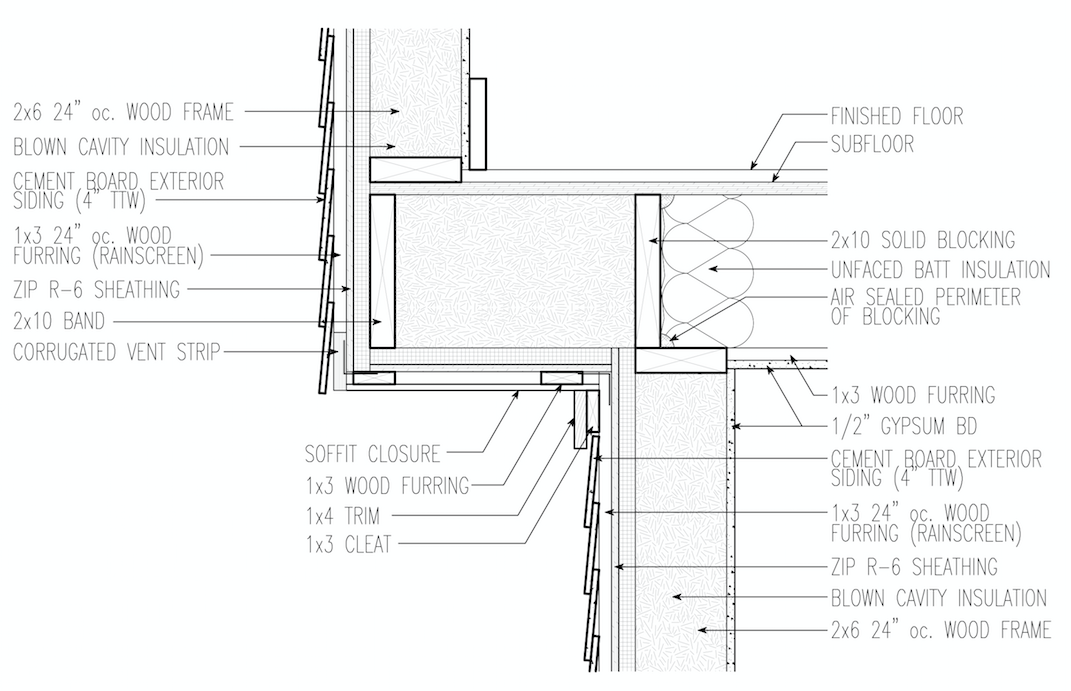 Positioning Control Layers in a Cantilevered Floor Assembly