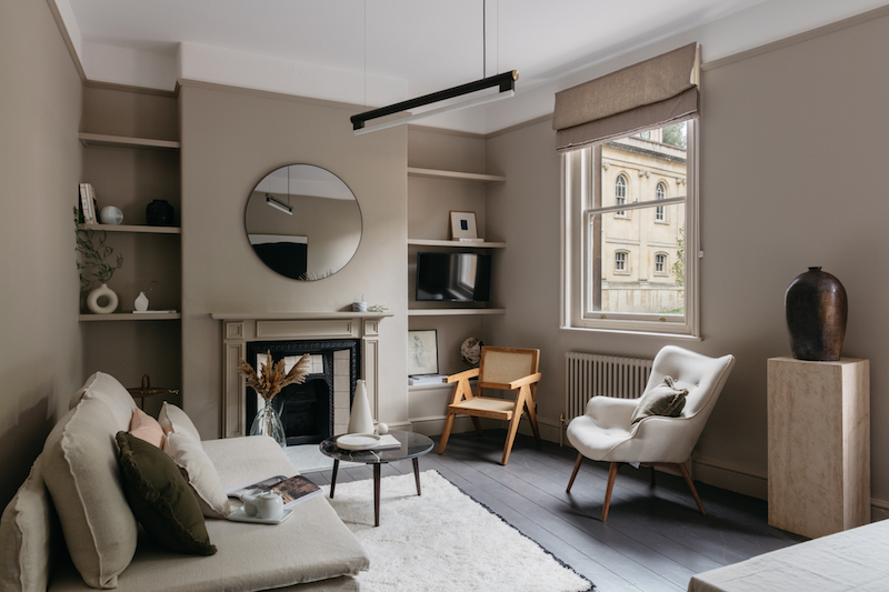 Steal This Look: A Warm Gray Artistic Retreat in Somerset