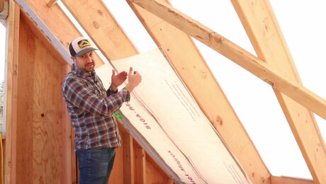 Building a Vaulted High-Performance and Foam-Free Roof Assembly