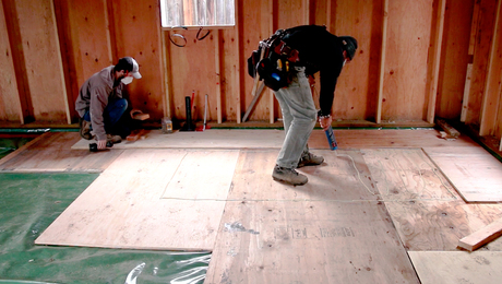The Concrete-Free Floating-Plywood Slab Assembly