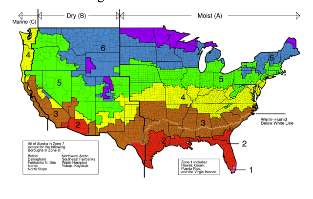 Updated Climate Zone Map Reflects Warming Trend